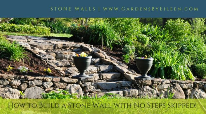 How to build a stone wall with no steps skipped