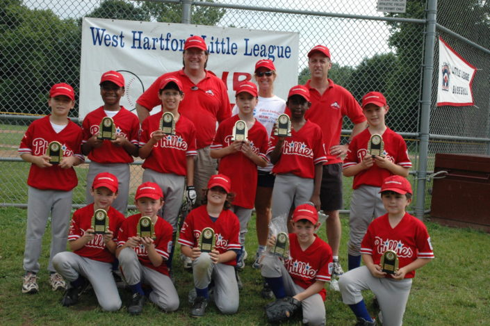 The sponsor of West Hartford Little League Team - Go Phillies!